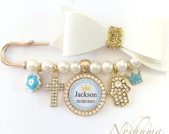Baby Shower Gift, Baby Keepsake, Personalized Baby Pin, Stroller Pin, Keepsake Pin