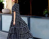 Elegant dress, Maxi dress, long sleeves, Long Sleeve Loose and  Relaxed fit, stylish and fashionable