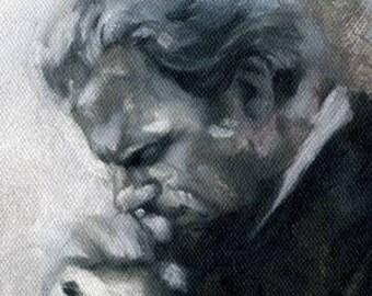 Canvas Print / Billy Graham Prayer Portrait