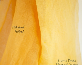 Summer Yellows Arbor Arch Drape Gauze Table Runner Weddings Special Events  Decor Hand Dyed Cotton Scrim Cheesecloth Runner Length Choice