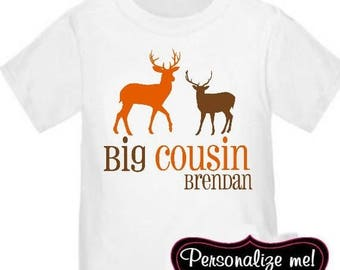 ON SALE Big Cousin Deer Personalized T-shirt Kids Big Cousin Shirt