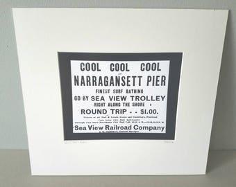 Narragansett Pier Rhode Island silver gelatin print