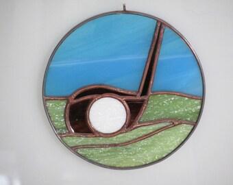 Stained Glass Golf Club Suncatcher