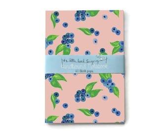 Blueberry - Custom Bullet Journal - Traveler - Notebook - Exercise Book  - 60 Pages