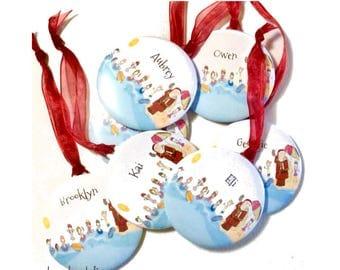 Personalised Christmas decoration  - Swim Santa Christmas tree decoration