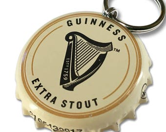 Guinness Beer Bottle Cap Customizable ID Tag