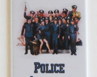 Police Academy Movie Poster Fridge Magnet (1.5 x 4.5 inches)