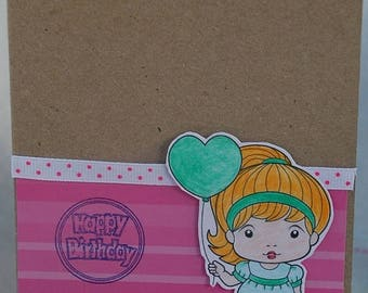 Happy Birthday Heart Balloon Marci Card