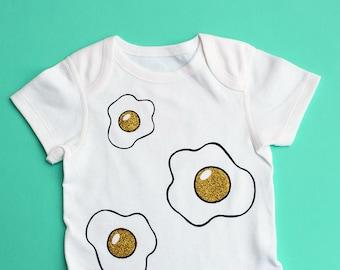Glitter Fried Egg Baby Bodysuit - Range of Sizes