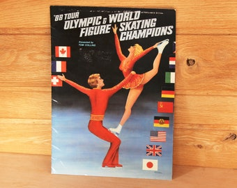 1988 Tour Olympic and World Figure Skating Champions Program - Vintage Skating Souvenir