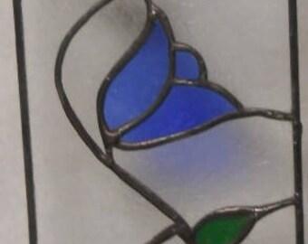"""Blue Tulip Panel  5"""" x 15"""""""
