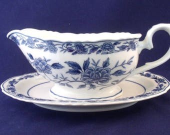 Blue Chatham By Symco, Gravy Boat and Under Plate