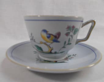 Spode Queen's Bird Y4973 Cup and Saucer
