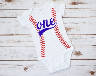Baseball birthday outfit, boys first birthday bodysuit, baseball cake smash outfit boy, first birthday boy outfit, baseball first birthday