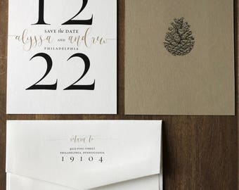 Large Number Wedding Save the Date