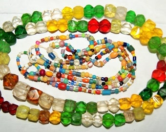 AFRICAN and EUROPEAN TRADE Beads Necklaces c1900