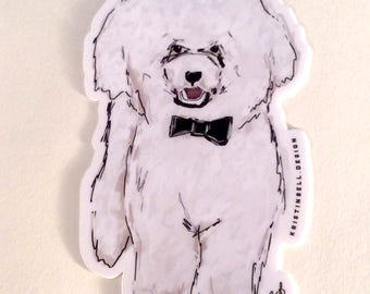 Die Cut Vinyl Sticker Featuring POPO the Poodle!