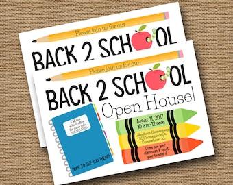 Back to School Invitation   School Open House   Cute Meet the Teacher Invite   Back to School Bash   School Supplies Invite   DIY PRINTABLE
