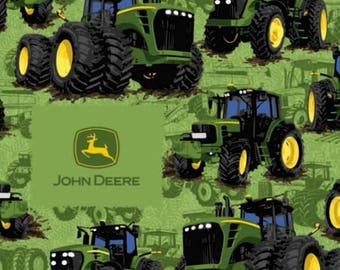 Green Tractor John Deere Fabric by the yard, farming fabric