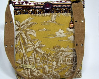 Bag Cross Body Bag Upcycled Handbag Gift for Her OOAK Mustard Bag Shoulder bag Boho bag