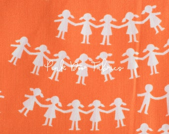 Kinder - Paper Dolls in Red - Heather Ross for Windham Fabrics - 43485-2  - 1/2 yard