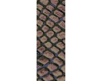 Stones Peyote Bead Pattern, Bracelet Cuff Pattern, Bookmark, Seed Beading Pattern Miyuki Delica Size 11 Beads - PDF Instant Download