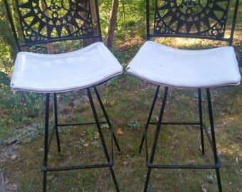 MID CENTURY MODERN Arthur Umanoff Mayan Sun Bar Stools. Shaver Howard Company Mayan Sunburst Swivel Bar Stools