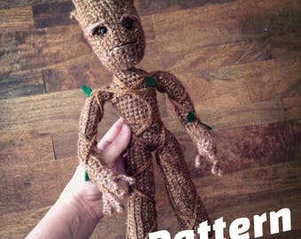 Tree Superhero doll Crochet Amigurumi Pattern