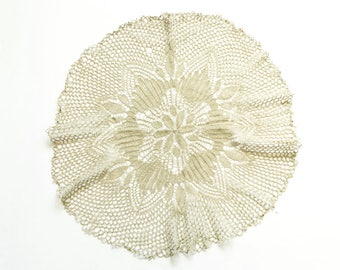 Light Green knitted Vintage Doily