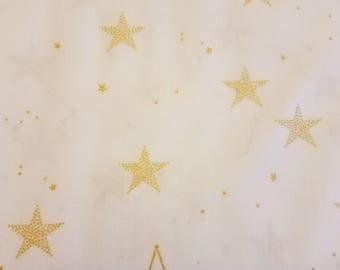 Lucky Stars fabric in White by Michael Miller