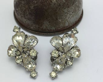 Kramer Earrings Rhinestone Earrings Vintage Earrings