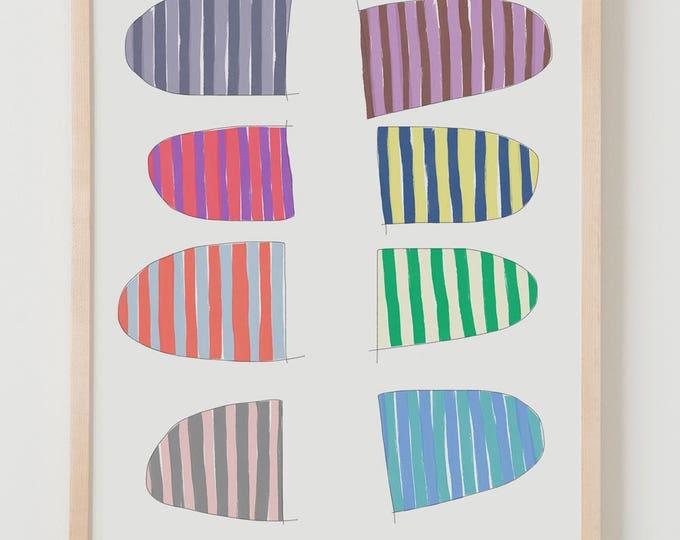 Fine Art Print.  Stripe Study, October 7, 2017.