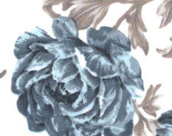 Snuggle Flannel Fabric - Denim Sketched Floral - 1 2/3 Yard