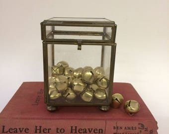 Brass + Glass Container