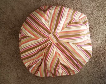 Bean Bag Chair Cover ~ Stuffed Animal Storage ~ Multicolored  Stripes