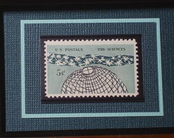Tribute to the Sciences - Vintage Framed Stamp - Version A - No. 1237