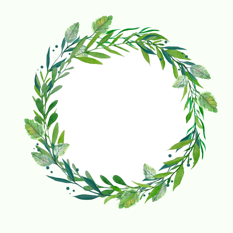 Greenery wreath watercolor wreath botanical wreath for Watercolor greenery