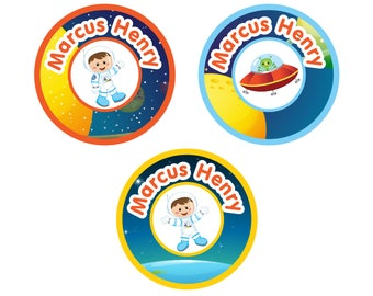 Peel 'n Stix Clothing Labels, Astronaut Boy (Pick Your Hair/Skin Color)
