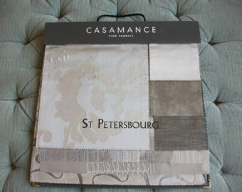 Casamance St Petersbourg Sample Book, Velvet/Silk Brown/Greys 32 Pages 38 x 48 cm