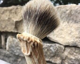 Antler and Badger hair shaving brush