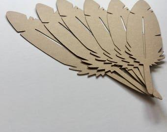 Feather Cardstock Die Cuts