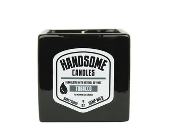 Sam's Natural - TOBACCO Handsome Candle - Soy Wax - Gifts - Natural, Vegan + Cruelty-Free