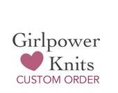 Custom for Brigitte, Hand Knit Poncho, Steel Blue, Cashmere Possum Silk Yarn