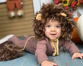 Baby Lion Hat, Lion Mane, Lion Hat, Infant Lion Hat, Crochet Hat, Baby Animal Hat, Baby Lion