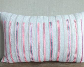 30x50 cm, Vintage Hemp Textile,Lumbar Pillow-Tradition Ethnic fabric,Sofa Cushions & Scatter Cushions