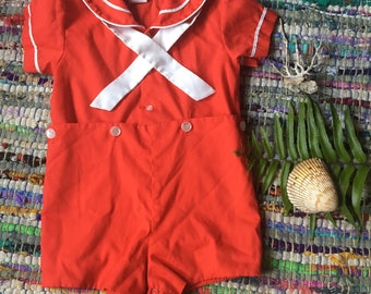 Sailor Jumper Red and White size 12 months. Beach outfit baby