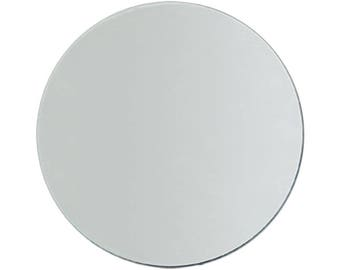 Glass 8 Inch Round Mirrors -- Set of 12