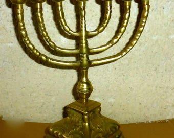 Messiah Menorah candle holder