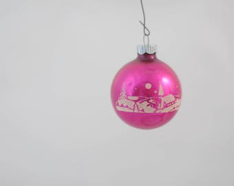 Vintage Christmas Ornament  Glass Round Shiny Brite Christmas Ornament Box 8