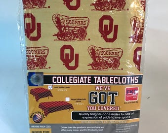 "University of Oklahoma Table Cloth-52""X 52""-OU Sooners Card Table Cover-Brand New-NCAA Table Cloths-for over 30 Schools"